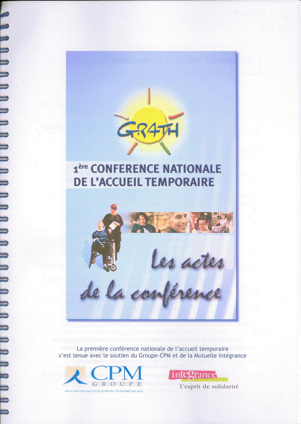 1ère Conférence nationale de l'accueil temporaire