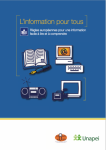 L'information pour tous : Règles européennes pour une information facile à lire et à comprendre