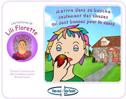 Les histoires de Lili Florette : mettre dans sa bouche seulement des choses qui sont bonnes pour la santé