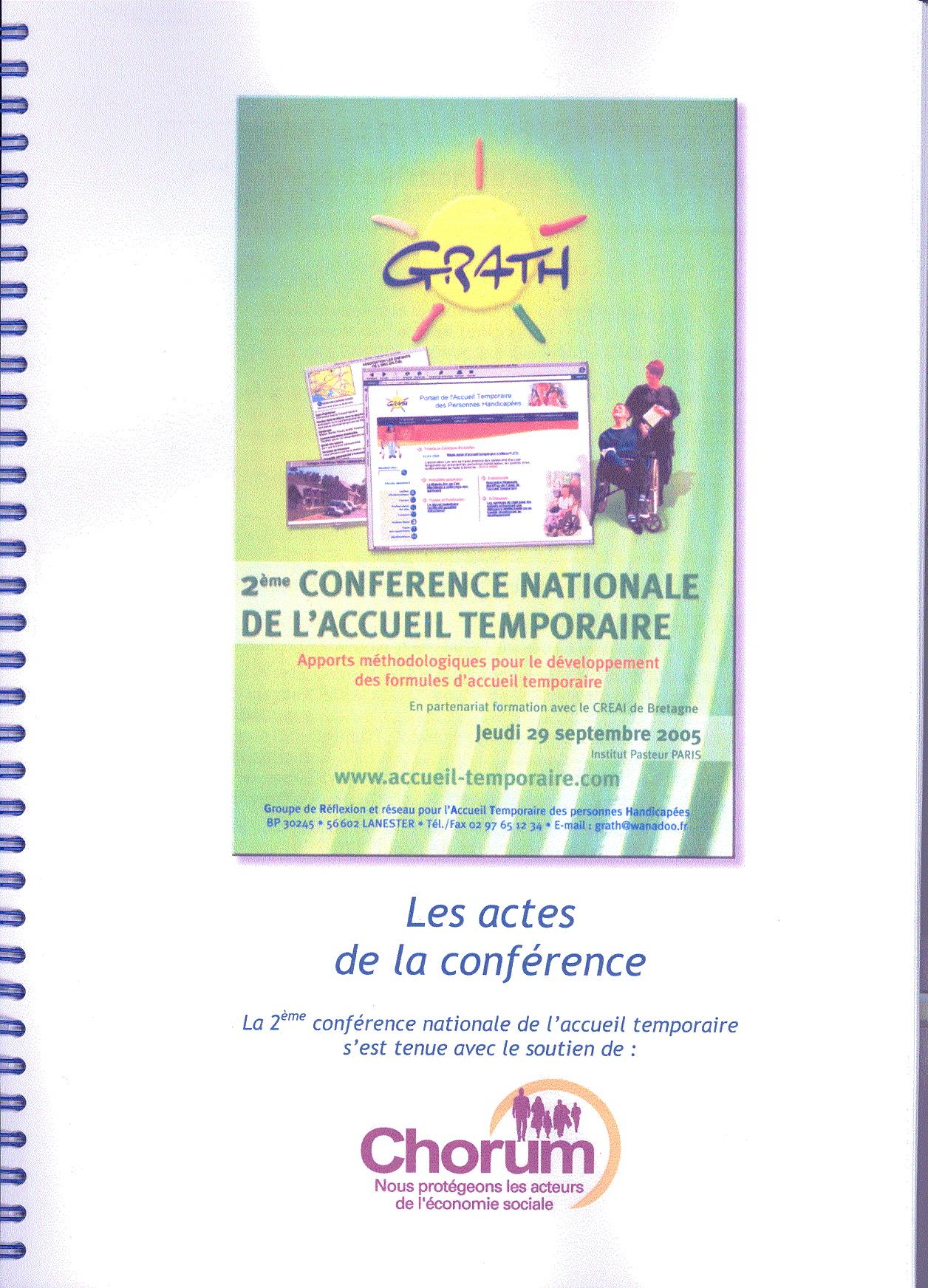 2ème conférence de l'accueil temporaire : Apport méthodologiques pour le développement des formules d'accueil temporaire